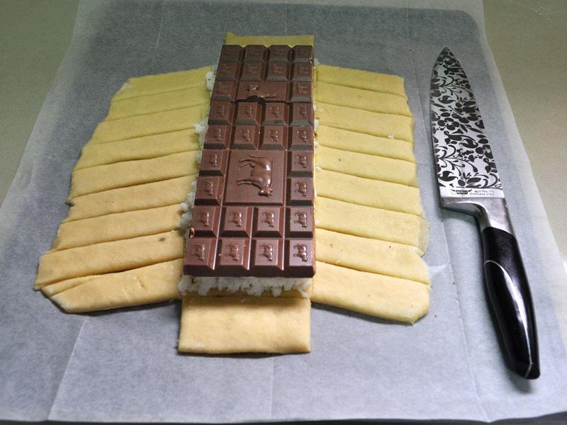 צמת שמרים שוקולד קוקוס הכנת המקלעת