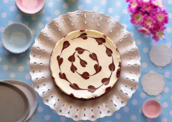 עוגת גבינה עם לבבות