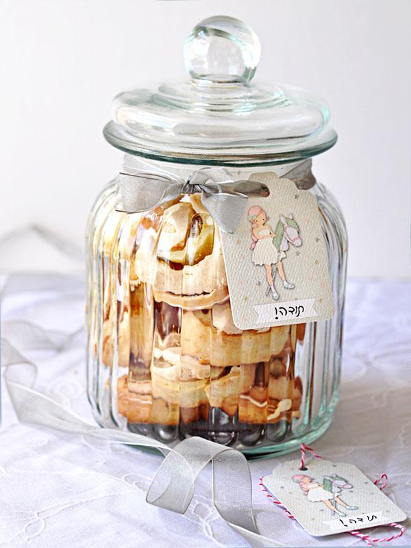 עוגיות שושנים בצנצנת