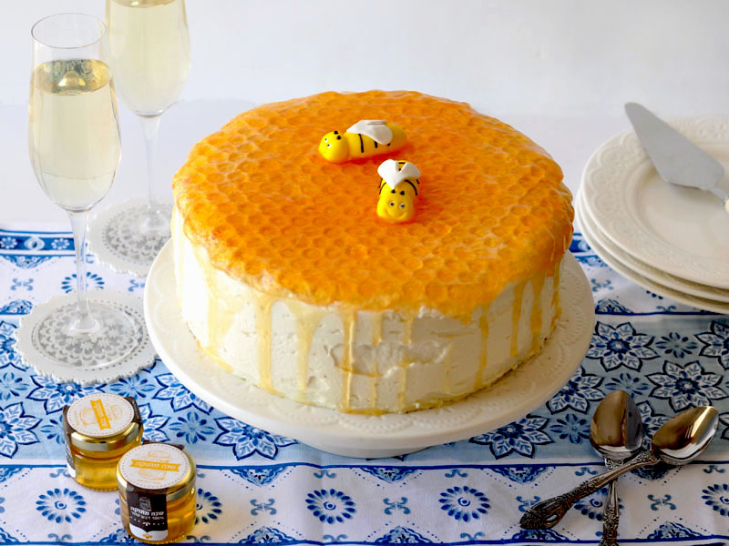 honey bee cake cover
