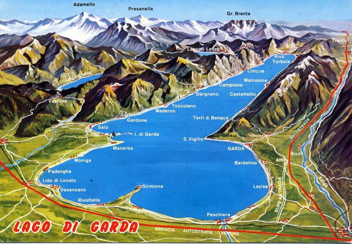 מפת אגם גארדה