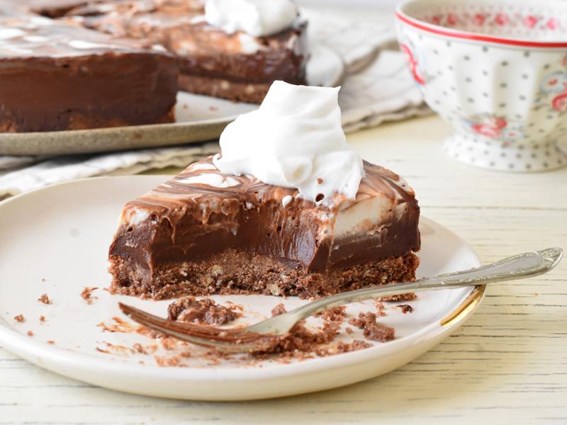 פאי שוקולד פרוסה