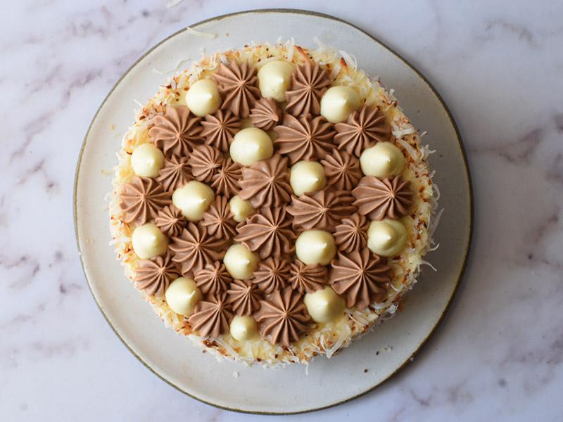 עוגת באונטי מבט על