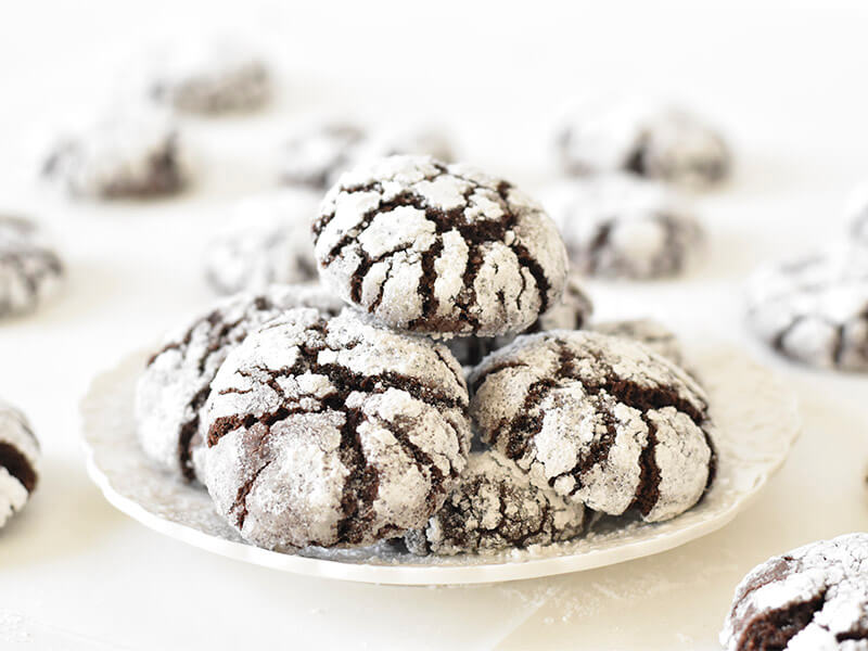 עוגיות שוקולד מושלגות