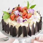 עוגת שוקולד ומסקרפונה אביבית לפסח