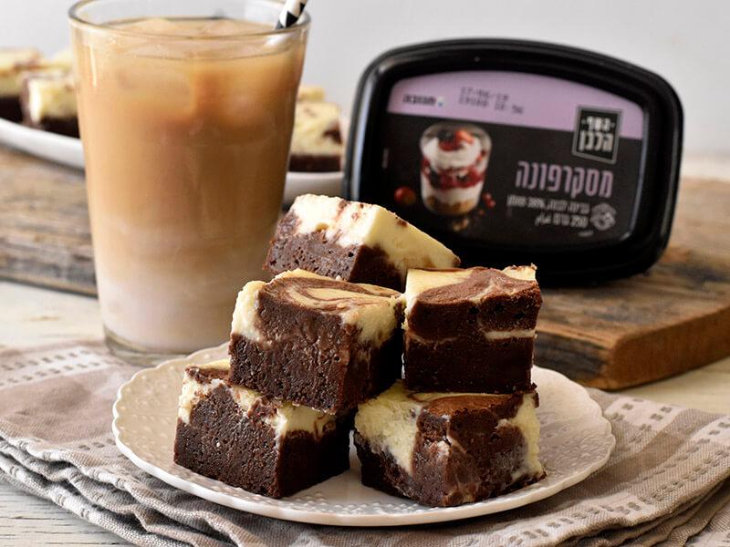בראוניז שוקולד וגבינת מסקרפונה של השף הלבן