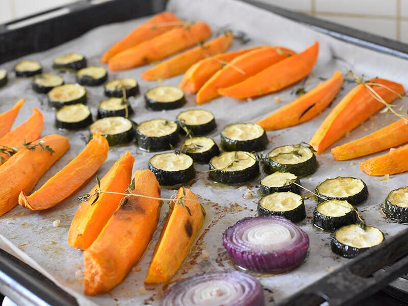 אנטיפסטי ירקות בתנור