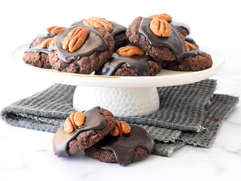 עוגיות דאבל שוקולד וקורנפלקס