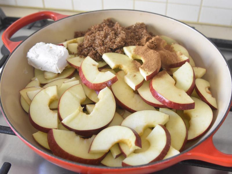 הכנת קישוט תפוחים