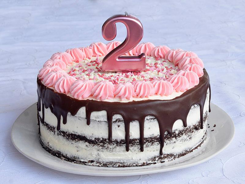 עוגת יום הולדת לגיל שנתיים