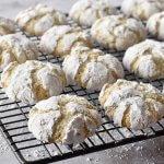 עוגיות שקדים מושלגות ב 4 מרכיבים