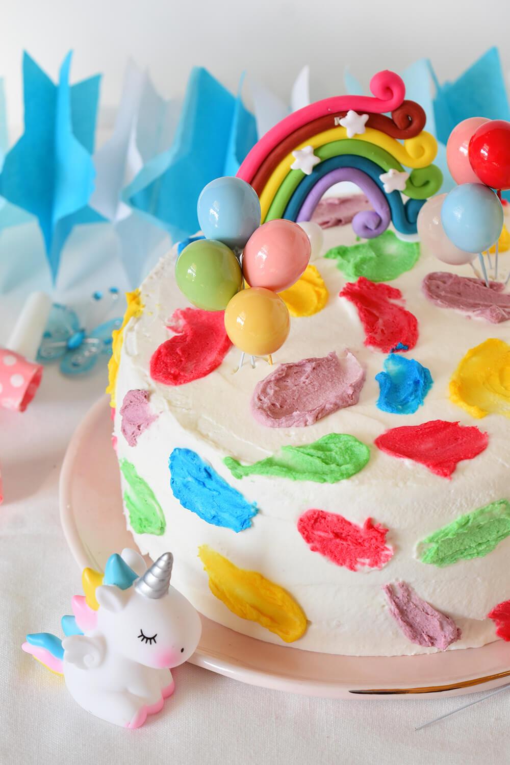 עוגת יום הולדת צבעונית - אורך